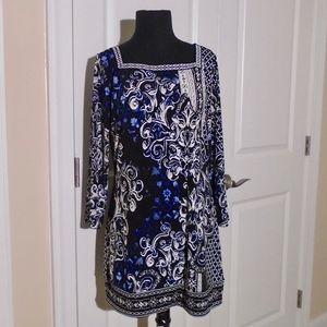 WHBM Square Neck Jersey Tunic Top//Dress M